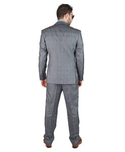 AzarSuits Plaid Grey Suit