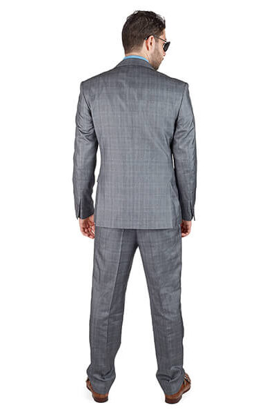 AzarSuits Plaid Grey Suit