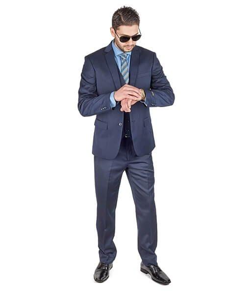 AzarSuits 3pc Navy Blue Suit
