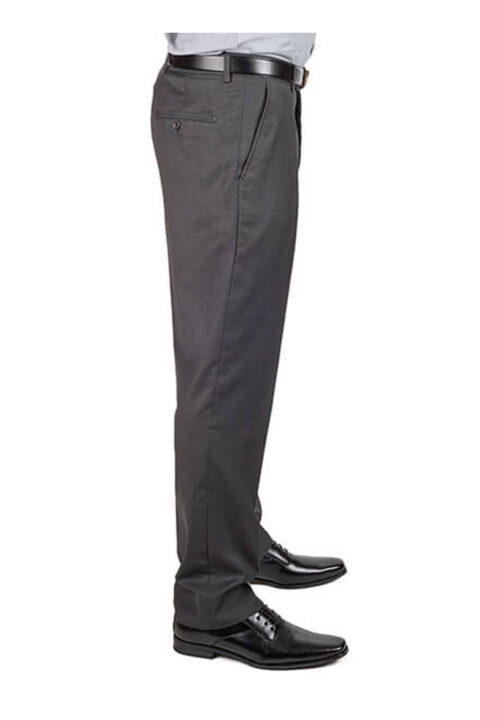 Grey Slim Fit Dress Pants