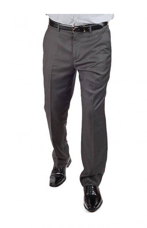 Grey Slim Fit Dress Pants
