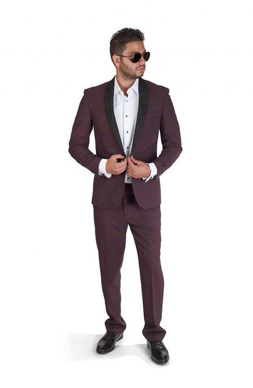 Slim-Fit-1-Button-Burgundy-Suede-Shawl-Collar-1