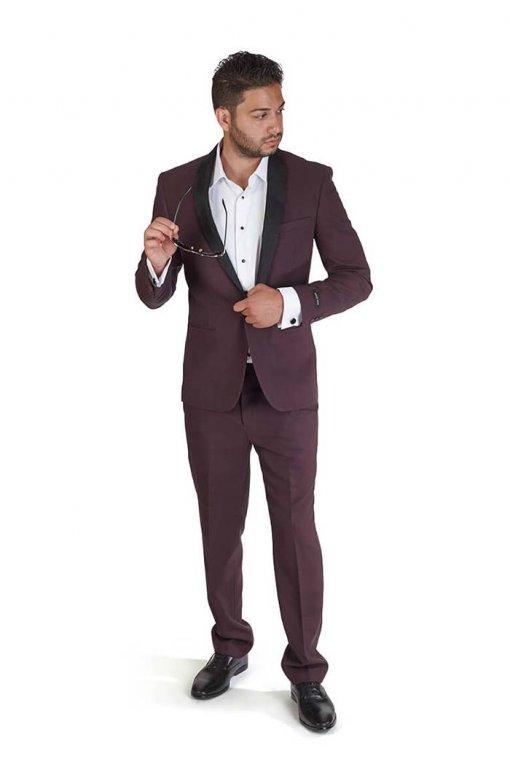 Slim-Fit-1-Button-Burgundy-Suede-Shawl-Collar-4