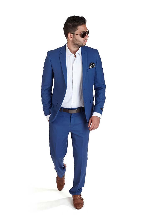 527752f94ba4 Slim Fit 2 Button Indigo Blue Suit - Azar Suits