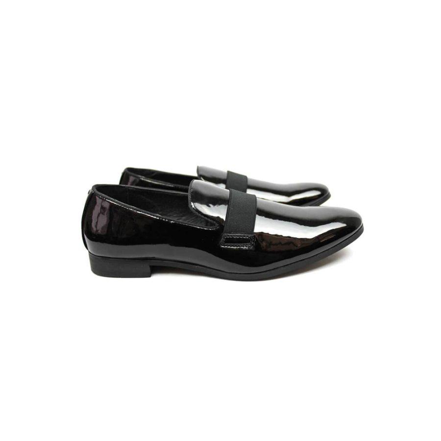 cad8c437a47a Black Slip On Patent Tuxedo Shoes - Azar Suits