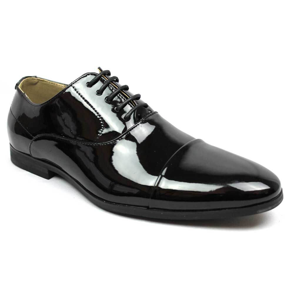 black cap toe patent tuxedo shoes azar suits