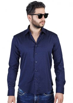 Slim Fit Cotton Square Design Modern Shirt