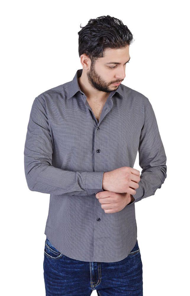 Slim Fit Plaid Checkered Shirt