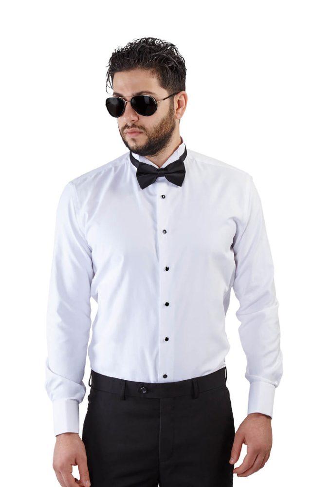 Slim Fit Tuxedo Shirt