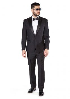 Slim-Fit-1-Button-Black-Paisley-Satin-Collar-Jacket-Black-Pants-1778-1