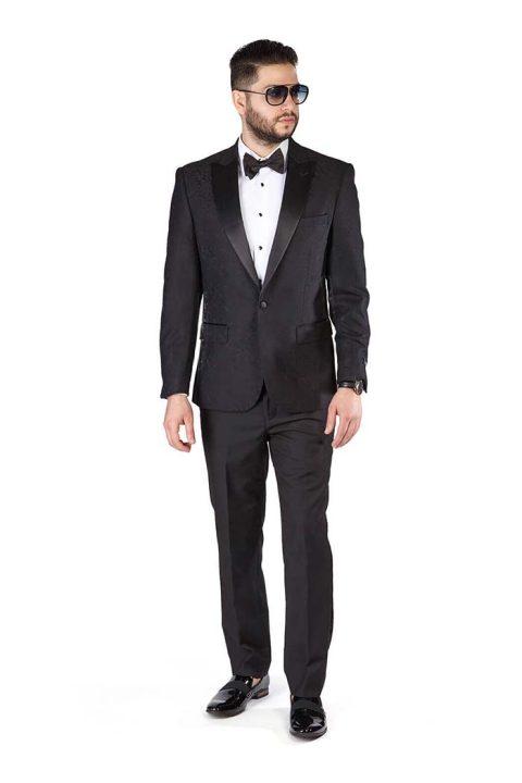 Slim-Fit-1-Button-Black-Paisley-Satin-Collar-Jacket-Black-Pants-1778-1