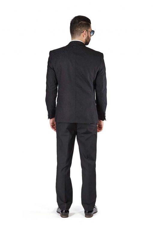 Slim-Fit-1-Button-Black-Paisley-Satin-Collar-Jacket-Black-Pants-1778-2