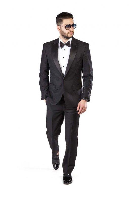 Slim-Fit-1-Button-Black-Paisley-Satin-Collar-Jacket-Black-Pants-1778-5