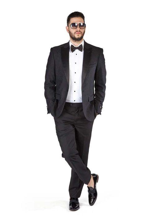 Slim-Fit-1-Button-Black-Paisley-Satin-Collar-Jacket-Black-Pants-1778-6