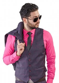 Purple-Windowpane-Dress-Vest