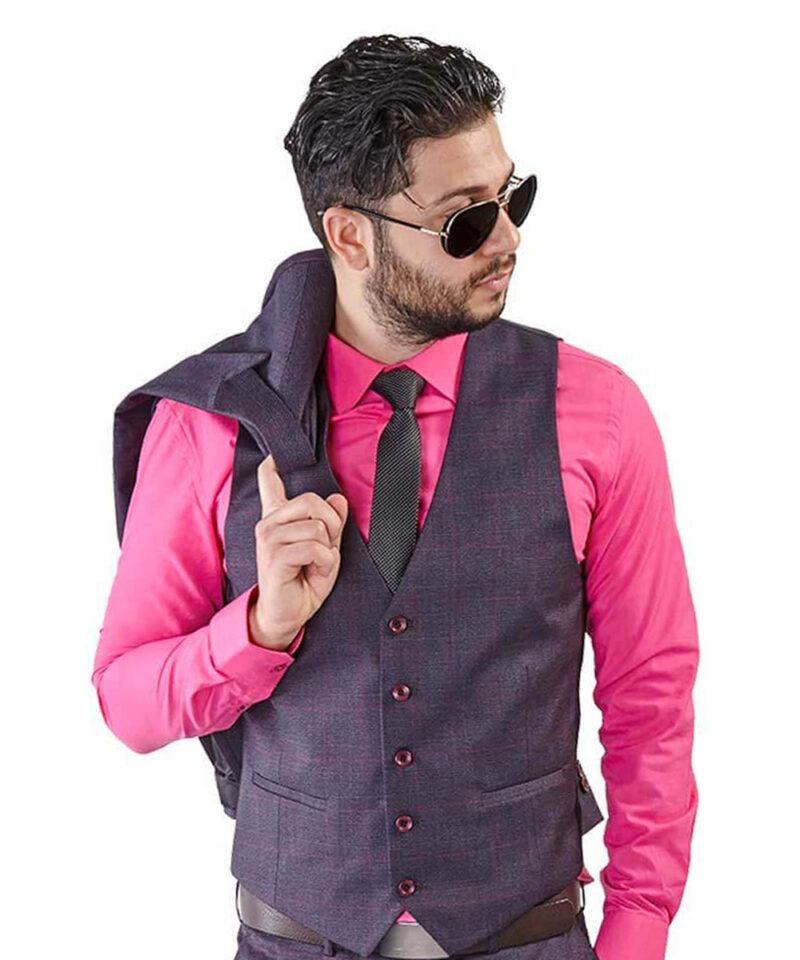 Purple-Windowpane-Dress-Vest