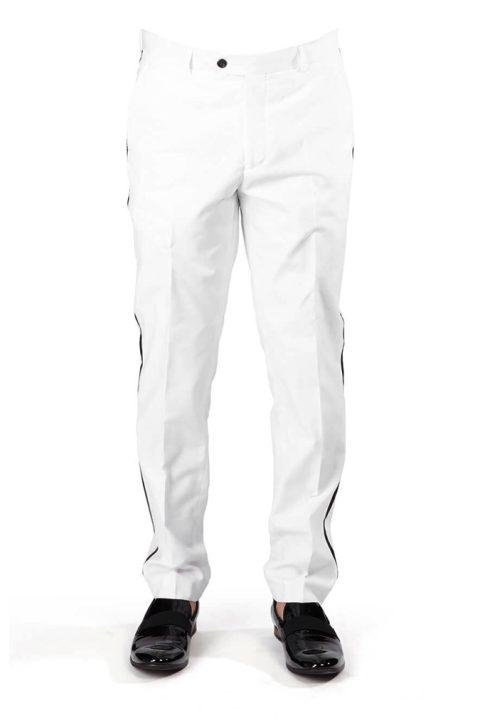 White Tuxedo Slim Fit Dress Pants
